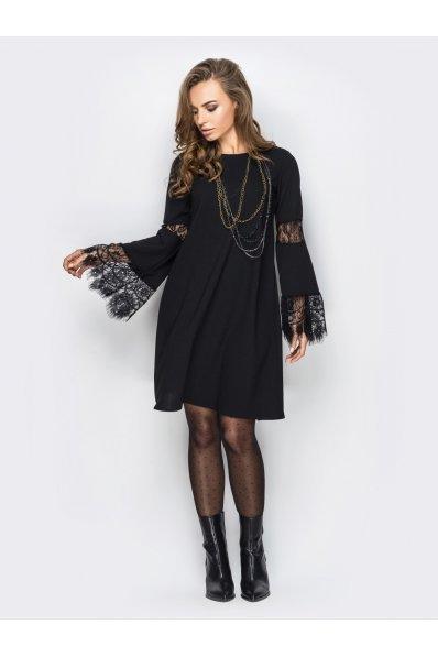 Нарядное платье трапеция с шикарным кружевом