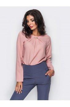 Нежная нюдовая блузка