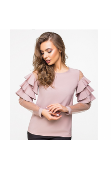 Нежная бежевая блуза