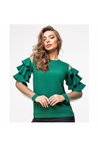 Нежная зеленая блузка