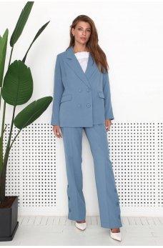 Голубые женские брюки в классическом стиле