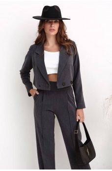 Серый стильный классический пиджак