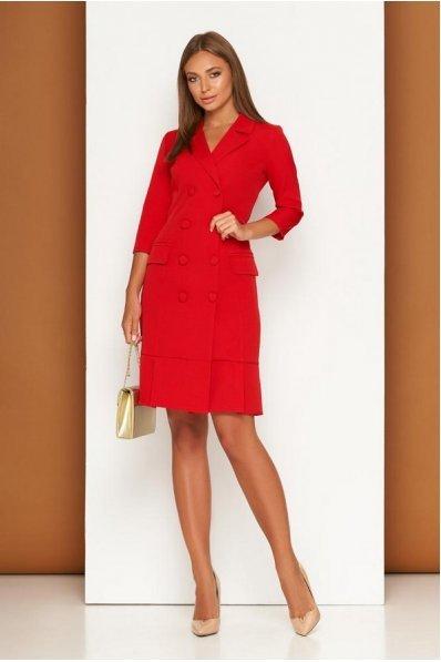Красное платье в деловом стиле