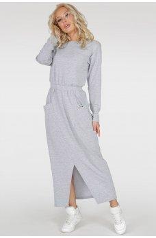 Довге спортивне плаття сірого кольору