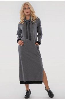 Классное спортивное платье серого цвета