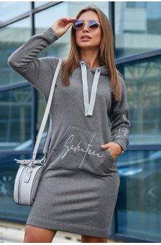 Спортивное платье серого цвета