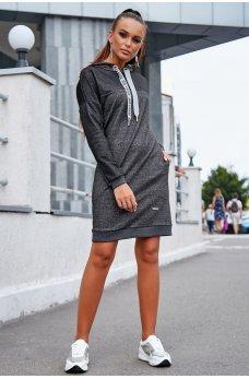 Темно-серое платье в спортивном стиле