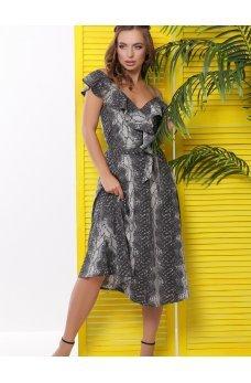 Чудесное летнее платье-миди серого цвета