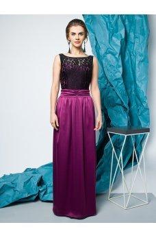 Длинное нарядное платье винного цвета