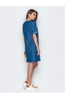 Джинсовое платье трапеция