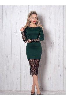 Интригующее изумрудное платье