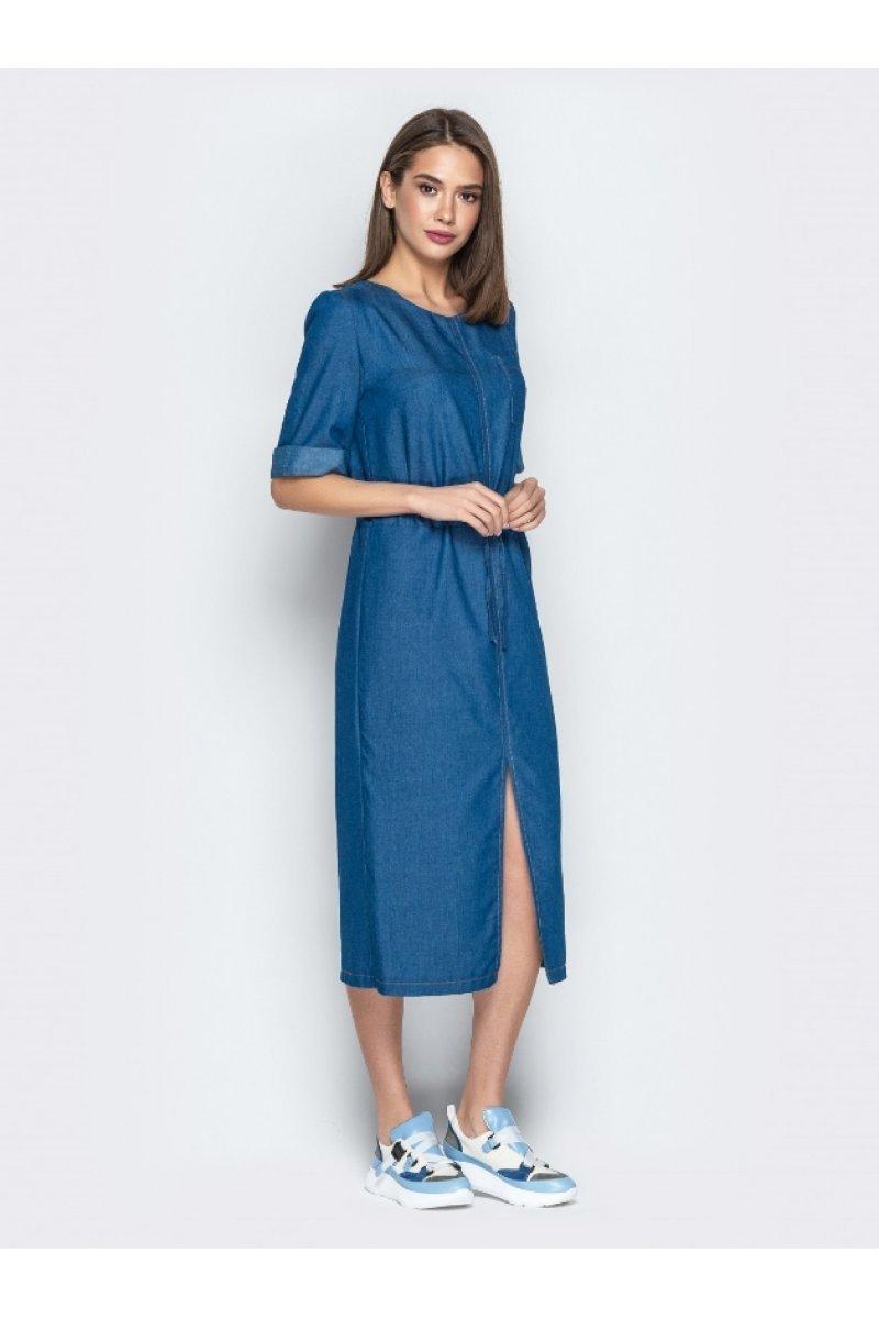034341b3ca4 Классное джинсовое платье длиной миди
