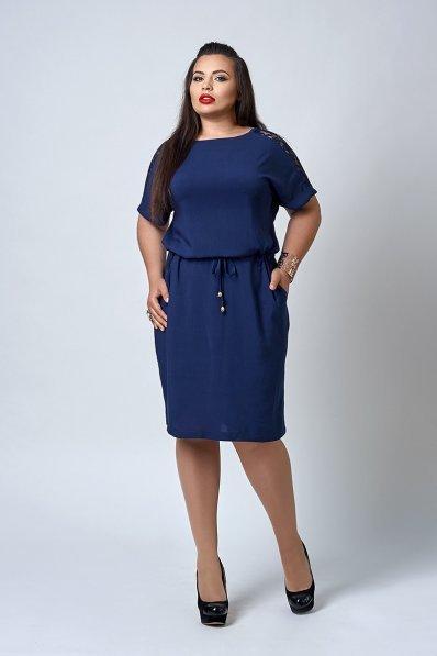 Классное летнее платье от 50 р. темно-синего цвета
