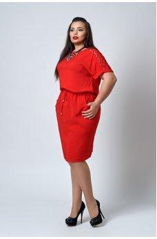 Классное летнее платье от 50 р. красного цвета