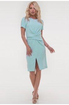 Легкое платье мятного оттенка