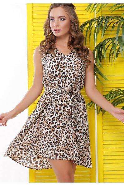 Легкое платье на лето принта леопард