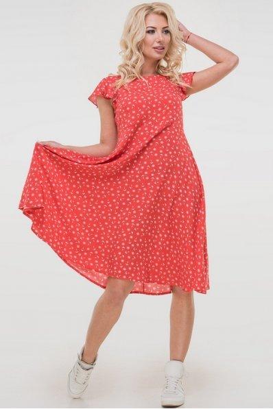 Летящее красное платье на лето