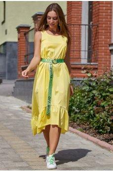Молодіжне плаття жовтого відтінку з стрейч-котону