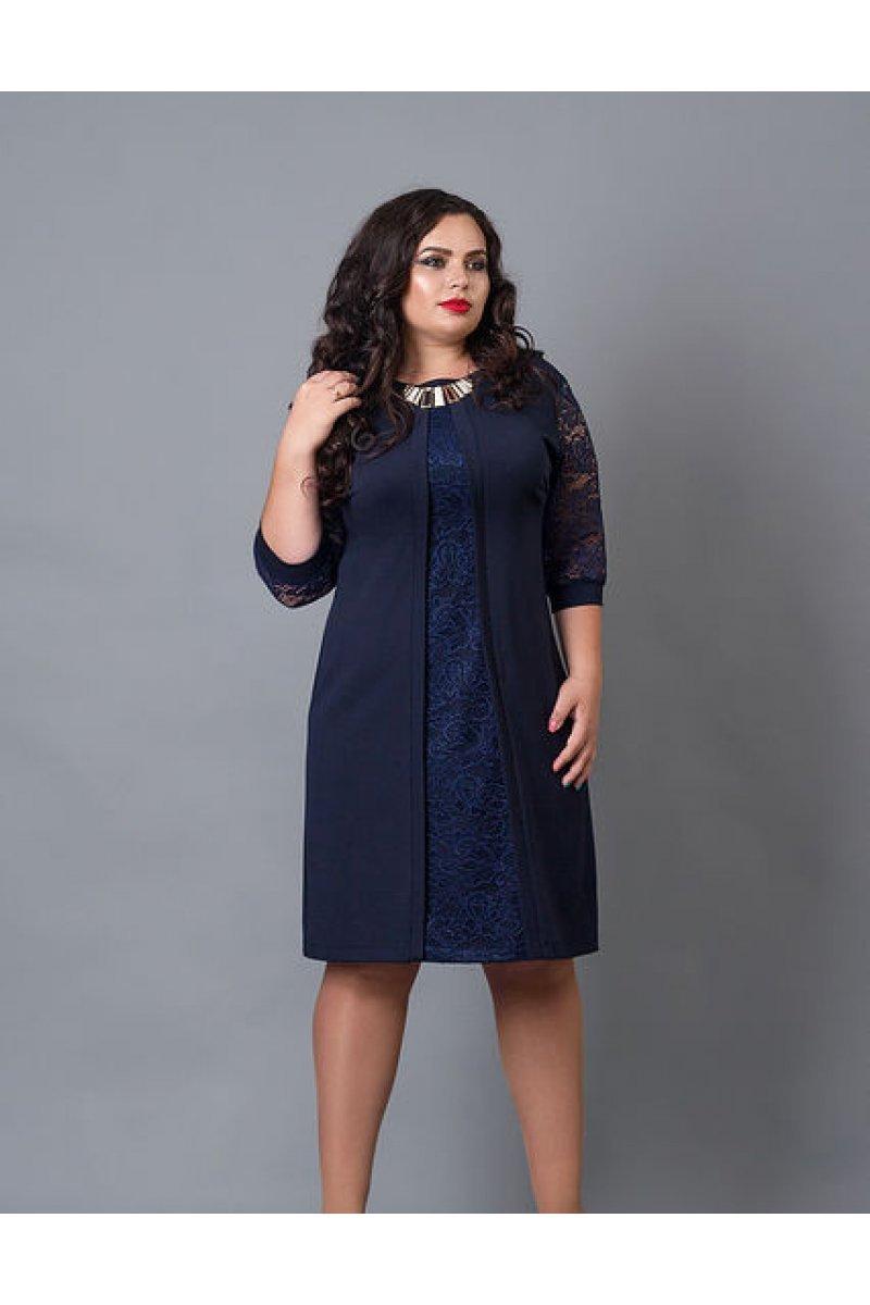 a6dd1a1756b Нарядное платье с вставкой из гипюра