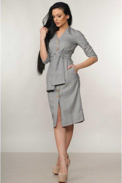 Платье футляр серого оттенка