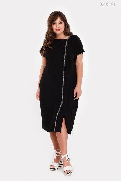 Стильное платье на лето в черном цвете.