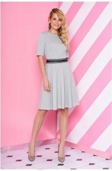 Трикотажное платье мятного цвета