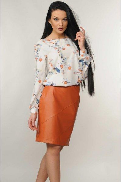 Весенняя свободная блуза в цветочки