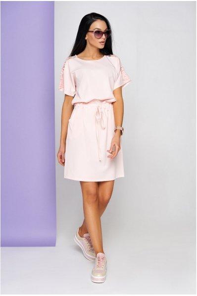 Женственное платье пудрового цвета
