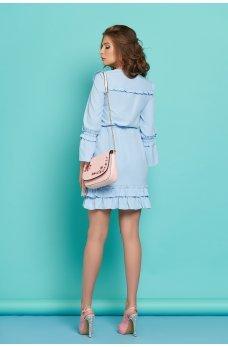Очаровательное  платье из креп-вискозы с рюшами в романтическом стиле