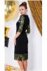 Платье футляр с гипюром и паетками - фото 1
