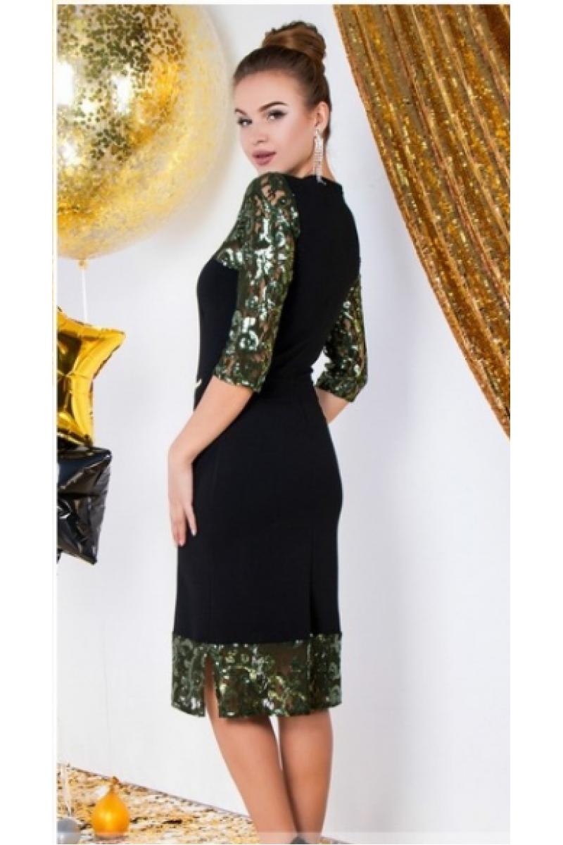 2a0a93ce4d85ba4 Платье футляр с гипюром и паетками
