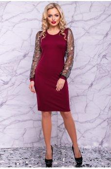 Платье карандаш бордового цвета