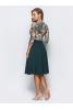 Платье миди с зеленым низом  - фото 1