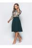 Платье миди с зеленым низом  - фото 2