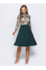 Платье миди с зеленым низом  - фото 3