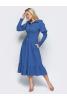 Платье миди синего цвета - фото 2