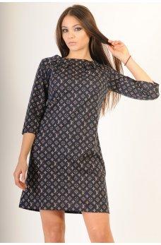 Платье а-силуэта с принтом LV