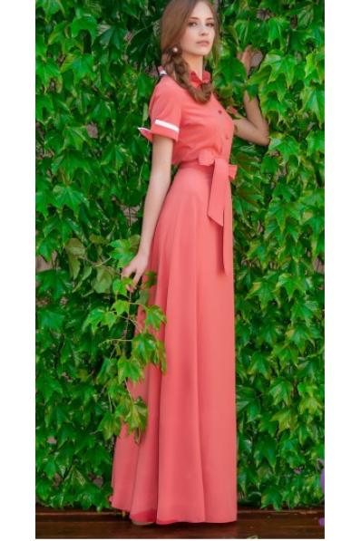 Длинное платье коттон