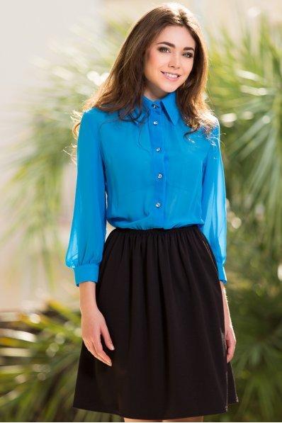 Платье голубой верх+черный низ
