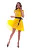 Желтое летящее платье из крепа - фото 1