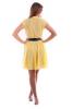 Желтое платье шифон - фото 2