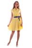Желтое платье шифон