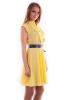 Желтое платье шифон - фото 1
