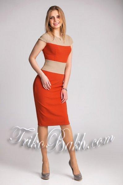 Платье-карандаш орха-беж