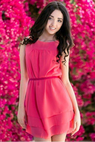 Платье коралловое легкое