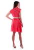 Коралловое платье шифон - фото 1