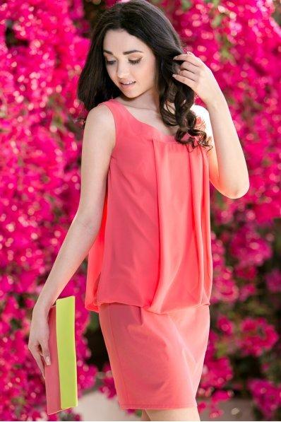Платье коралловое воздушное