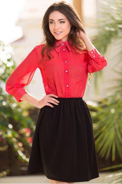 Платье красный верх+черный низ
