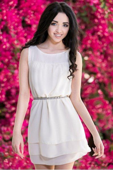 Платье молочное легкое