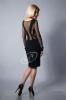 Черное платье с прозрачной спиной - фото 1
